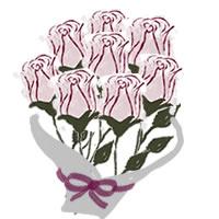 ネットショップ、バナー広告のアイコン(twitter,mixi)、webデザイン素材:ガーリーなピンクの薔薇(バラ)の花束(200×200pix)
