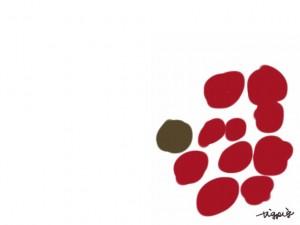 web制作、webデザインのフリー素材:フレーム・飾り枠:640×480pix;大人かわいい北欧風の花みたいな水玉