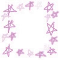 ネットショップ、バナー広告のアイコン(twitter,mixi)、webデザイン素材:ポップでガーリーなパステルピンクの手描きの星のフレーム(200×200pix)