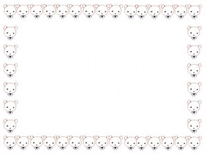 webデザイン素材:フレーム・飾り枠:640×480pix;ガーリーで大人可愛い、らくがき風のクマいっぱいのフリー素材
