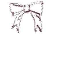 アイコン(twitter,mixi,ブログ)のフリー素材:リボンのイラストのガーリーな夏の季節のwebデザイン素材