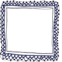 大人女子のアイコン(twitter,mixi,ブログ)のwebデザイン素材:大人かわいい紺色のガーリーな手編みレースのフレーム