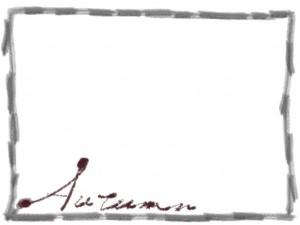 フリー素材:フレーム;Autumnの手書き文字とラフな鉛筆風ラインの囲み枠。webデザイン、ホームページ制作のイラスト