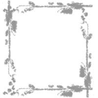 フリー素材:フレーム;アイコン:大人かわいいモノトーンの枝と葉と小さな実の北欧風イラストの飾り枠