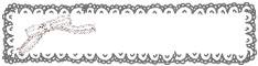 バナー広告、webデザインのフリー素材:モノクロのガーリーなレースの飾り枠とりぼんの飾り枠。ハーフバナーのデザインに。