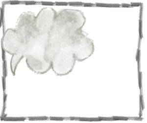フリー素材:吹出し,フレーム:モノトーンの鉛筆風のラインの飾り枠と大人かわいいグレーの水彩のふきだし;300×250pix