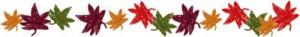 フリー素材:秋の飾り罫;大人かわいい紅葉いっぱいの無料イラスト