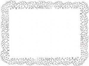 フリー素材:フレーム;モノトーンのガーリーな北欧風レースの飾り枠;640×480pix