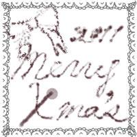 フリー素材:アイコン;ガーリーなモノトーンのレースとmerryX'masの手書き文字とリボンのwebデザイン素材