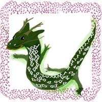 フリー素材:辰の大人かわいいイラストとピンクのレースの飾り枠;アイコン(twitter)