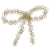 フリー素材:ガーリーな茶色のクレヨン風のリボンの無料イラスト;アイコン(twitter)