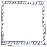 フリー素材:アイコン(twitter);モノトーンの鉛筆の手描きのラフなストライプのフレーム;200×200pix