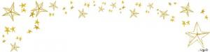フリー素材:ヘッダー;大人可愛い星いっぱいのフレーム;800×200pix