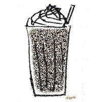 フリー素材:アイコン(twitter);モノトーンのざらついた質感がレトロなカフェモカ;200pix
