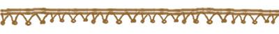 フリー素材:飾り罫;大人可愛い黄土色のポンポンレースのガーリーイラスト
