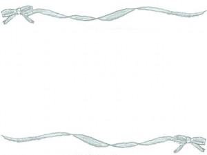 フリー素材:フレーム;今年流行のパステルブルーの大人可愛いリボンがひらひらしたライン;640×480pix