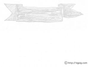 フリー素材:見出し用背景;新着やランキングの見出しに使えるモノトーンのリボン;640×480pix