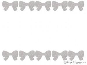 フリー素材:フレーム;モノトーンのドットがガーリーなりぼんいっぱいの飾り枠;640×480pix