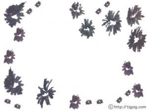 フリー素材:フレーム;森ガール風のモノトーンの小花の飾り枠;640×480pix