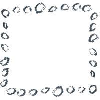 フリー素材:アイコン;北欧風のモノトーンの丸模様のフレーム(twitter,facebook,ブログ可);200×200pix