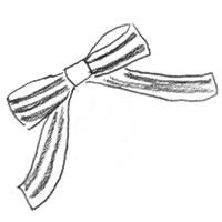フリー素材:背景,パターン;森ガール風モノトーンのストライプのリボン;200×200pix