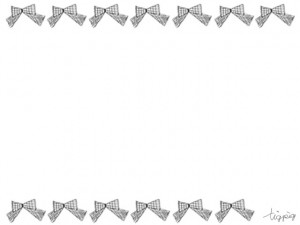 フリー素材:フレーム;大人ガーリーなグレーの手描きのりぼんいっぱいのライン;640×480pix