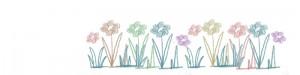 フリー素材:ヘッダー;北欧風の大人可愛いお花の大人可愛いイラスト;800×200pix