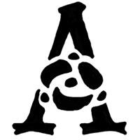 大人可愛いアイコンのフリー素材:モノトーンのバラのイラストのAの飾り文字;200×200pix