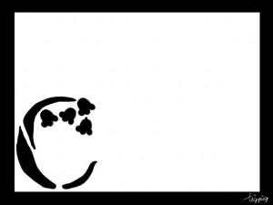 大人可愛いフリー素材:ガーリーなモノトーンのすずらんとCの飾り文字;960×640pix
