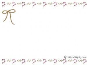 大人可愛いフリー素材:フレーム;北欧風の小花と葉っぱの飾り枠(ブラウン);640×480pix