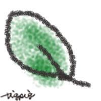 ナチュラルな葉っぱのイラストのフリー素材:200×200pix