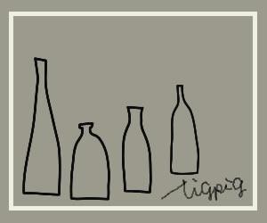 HP制作やバナー作成にも使える北欧風のシンプルなブラウングレーの瓶のイラストのフリー素材