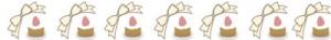大人可愛いHP制作に使えるイチゴケーキの飾り罫のフリー素材