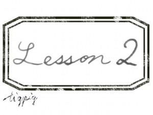 大人可愛いHP制作に使える手描き文字のLesson2とスタンプ風ラベルのフリー素材
