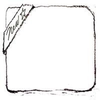 HP制作やブログのアイコンに使えるNewの手書き文字のスタンプ風のラベルのフリー素材