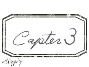 大人可愛いHP制作に使える手描き文字のCapter3とスタンプ風ラベルのフレームのフリー素材