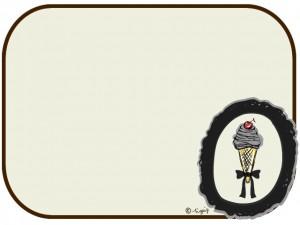 大人可愛いサクランボのソフトクリームのイラストのフレーム:640×480pix