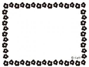 モノトーンの小さなデイジー柄いっぱいのフレーム:640×480pix