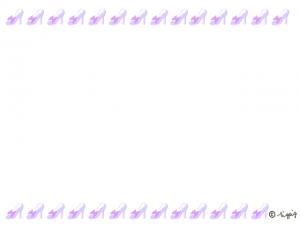 フレーム:大人可愛いリボンつきの薄紫のハイヒールいっぱいのライン(640×480pix)