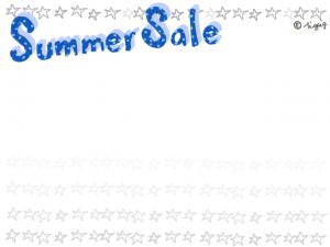 夏のセールに使える水玉のSummer Saleの手描き文字のフレーム:640×480pix