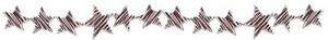 ポップなシマシマの星のライン(罫線):400×50pix