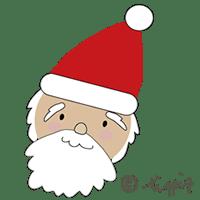 クリスマスに使えるサンタのイラストのアイコン:200×00pix