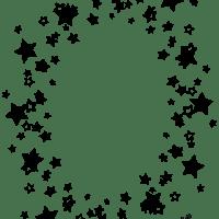 webデザインに使えるモノトーンの星いっぱいのシンプルな縦の楕円のフレーム:640×480pix