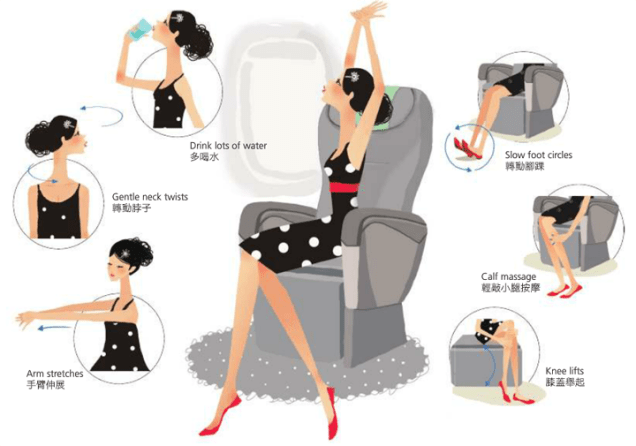 How to survive long flights in economy