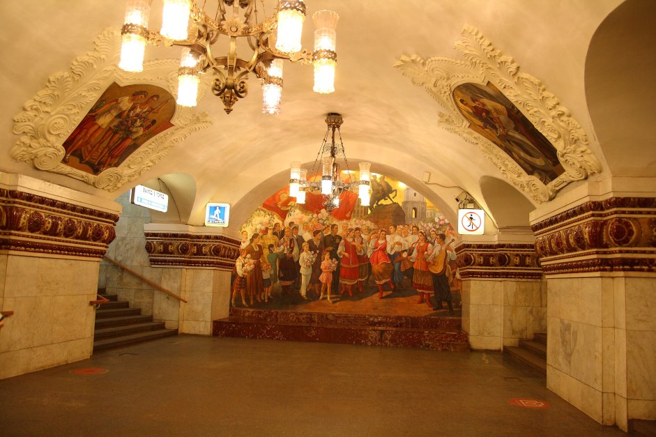Places to visit in Moscow - metro