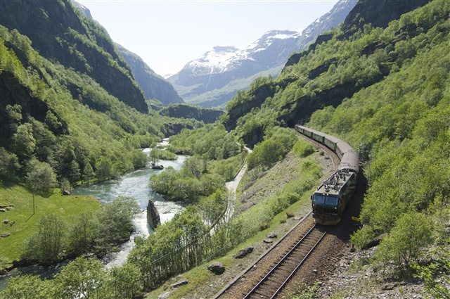 Flam Railway Journey along Norwegian Fjords