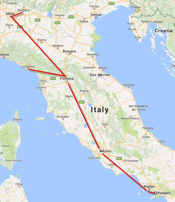 One week Italy itinerary for beginners Tigrest Travel Blog