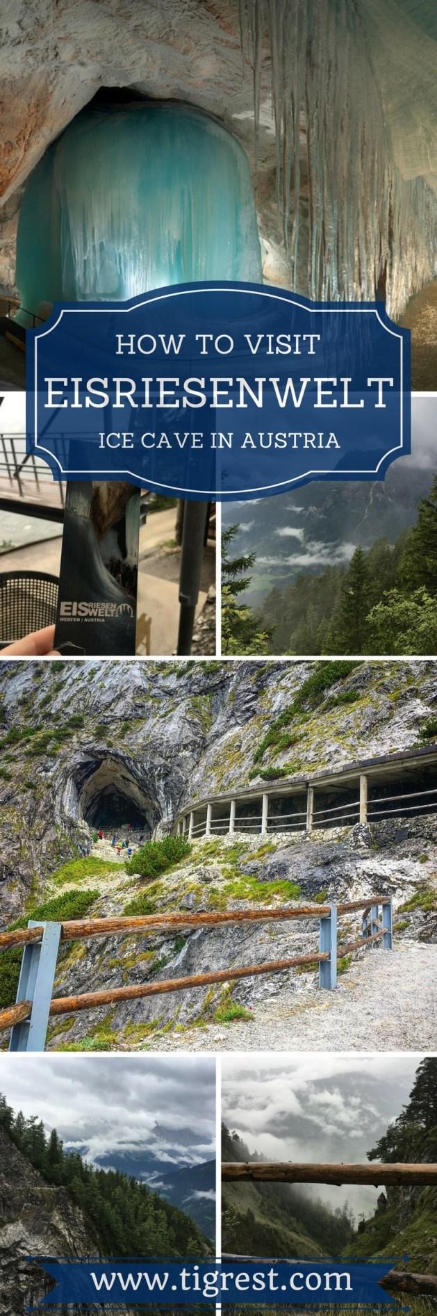 eisriesenwelt ice cave pinterest