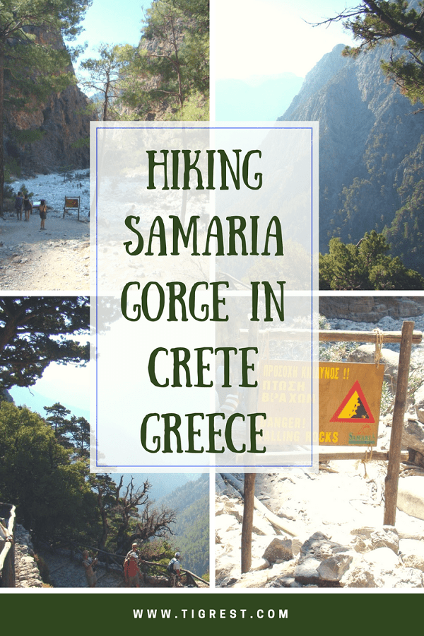 Samaria Gorge from Chania #Crete #Greece #Chania #Hiking #Hiking in Crete #Samaria Gorge hiking #Crete Greece