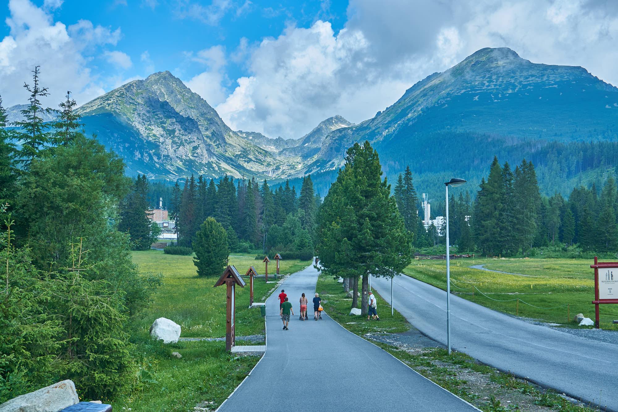 Hiking in High Tatras Slovakia from Strbske Pleso